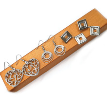 Dandie Trendy Fashion Earrings, Zinc Alloy Silver Plated Earring Jewelry, A Set With Three pcs