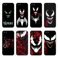 Venom Marvel Villain TPU Soft Silicone Black Phone Case for Apple iPhone 8 7 6 6S Plus X XS MAX 5 11 11PRO SE XR Cover
