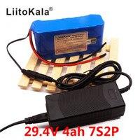 HK LiitoKala 24 V 4Ah 7S2P 18650 Batterie li ion batterie 29 4 v 4000 mah elektrische fahrrad moped/elektrische + 2A ladegerät-in Akku-Packs aus Verbraucherelektronik bei
