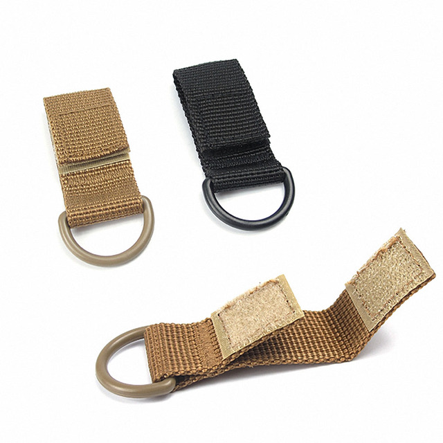 1pc Portable Backpack Hook Clamp Outdoor Carabiner Hiking Molle Webbing Belt D-Ring Camping Keychain Buckle Hook Clasp Carabiner