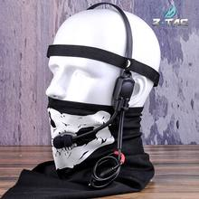 Z-Tac Military Tactical Headset Signal bone conduction Speaker mh180-v Airsoft Earphone Z136(China)
