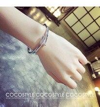 New 2Color luxury design European stainless steel bracelet and bracelet Fit DW Men's Woman couple bracelet Christmas gifts