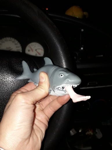 Crazy Shark Pops Out Surfer Leg Stress Relief Funny Toy photo review