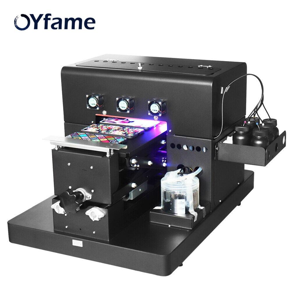 OYfame A4 UV Printer With Emboss Effect Phone Case Printer A4 UV Printing Machine  Golf Glass Metal Acrylic Leather PVC Printer