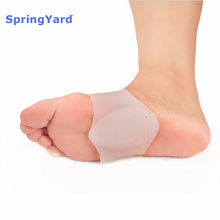 SpringYard (2 pairs/lot) Silicone Gel Plantar Fasciitis Arch Support Sleeve Bandage Pad Flat Foot Orthopedic Belt Foot Care