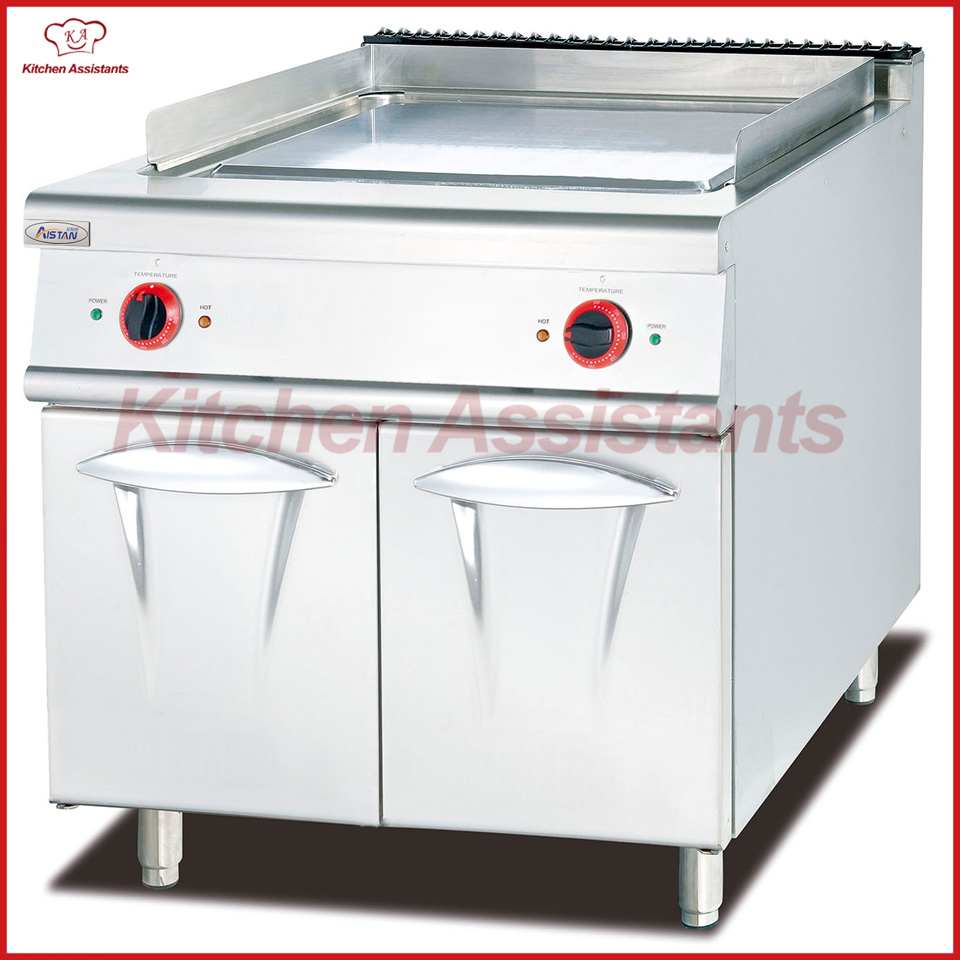 EH886D electric flat griddle with cabinet of catering equipment gh776 gas griddle with cabinet all flat