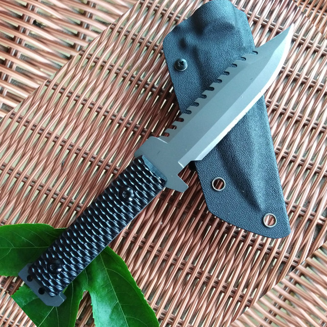 DAOMACHEN Camping survival Knife  Hunting Knife Full Tang  G10 Handle Fix blade knife Super sharp With Imported K Sheath