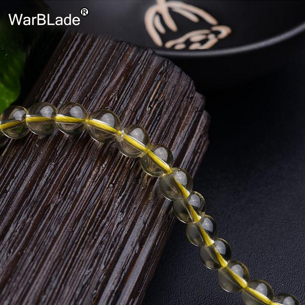 WarBLade AAAAAA Natural Stone 6A Citrine Beads Round Yellow Crystal Loose Beads 6mm 8mm 10mm 12 For DIY Bracelet Jewelry Making