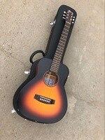 Бесплатная доставка Высокое качество левая рука детская Гитара Байрон Детская гитара Мини 34 дюйм(ов) ов) твердая древесина дорожная акустич