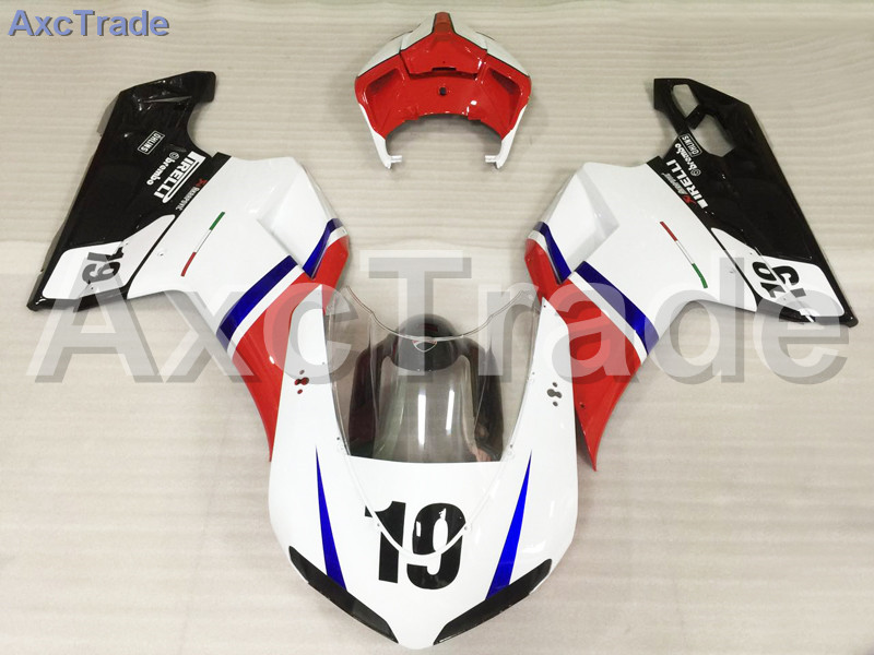 Motorcycle Fairings Kits For Ducati 848 1098 1198 07 - 12 2007-2012 ABS Injection Fairing Kit Bodywork Kit White Red Black A492 hot sales replacement abs fairings for ducati 1098 848 1198 xerox 2007 2008 2009 2010 2011 abs fairing kits injection molding