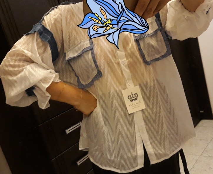 Summer New Korean Style Women Shirt Wild Casual Fashion Fashion Blouses And Tops Female Stitching Chiffon Shirts photo review