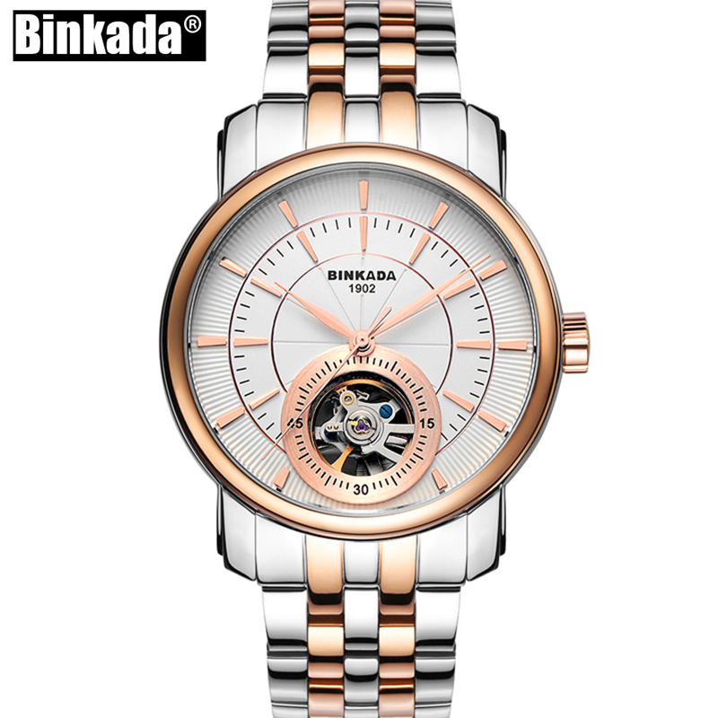 Men BINKADA Automatic Mechanical Watch Skeleton Self-Wind Man Skeleton Tourbillon New Fashion Casual Analog Wristwatch t700 full carbon road bicycle frame bb386 road bike 3k weave 54cm in stock 3 days delivery