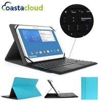 9-10 inch Tablet Universal PU Leather Case Cover Holder With Removable Wireless Bluetooth Keyboard