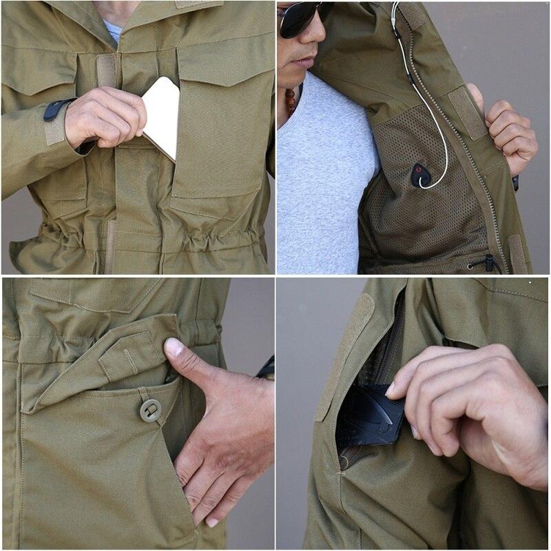 M65 UK US Army Clothes Casual Tactical Windbreaker Men  Waterproof Flight Pilot Coat Hoodie Military Field Jacket