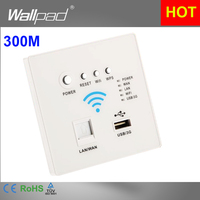 110 250V New White USB Socket Wireless WIFI USB Charging Socket Wall Embedded Wireless AP Router