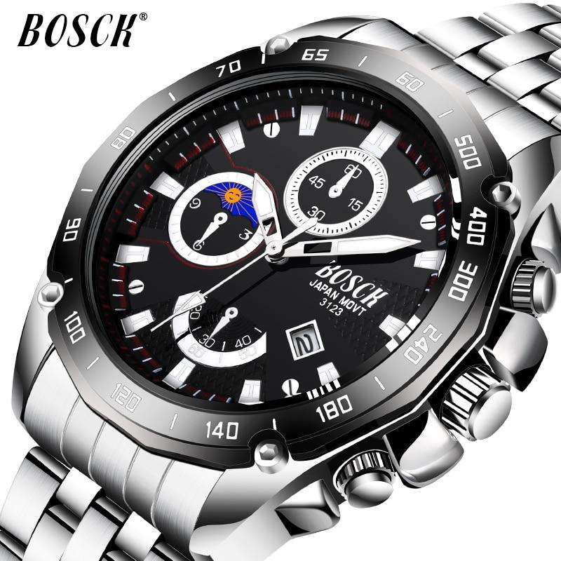 Męskie Zegarki Top Marka BOSCK Luxury Fashion Business Zegarek - Męskie zegarki - Zdjęcie 1