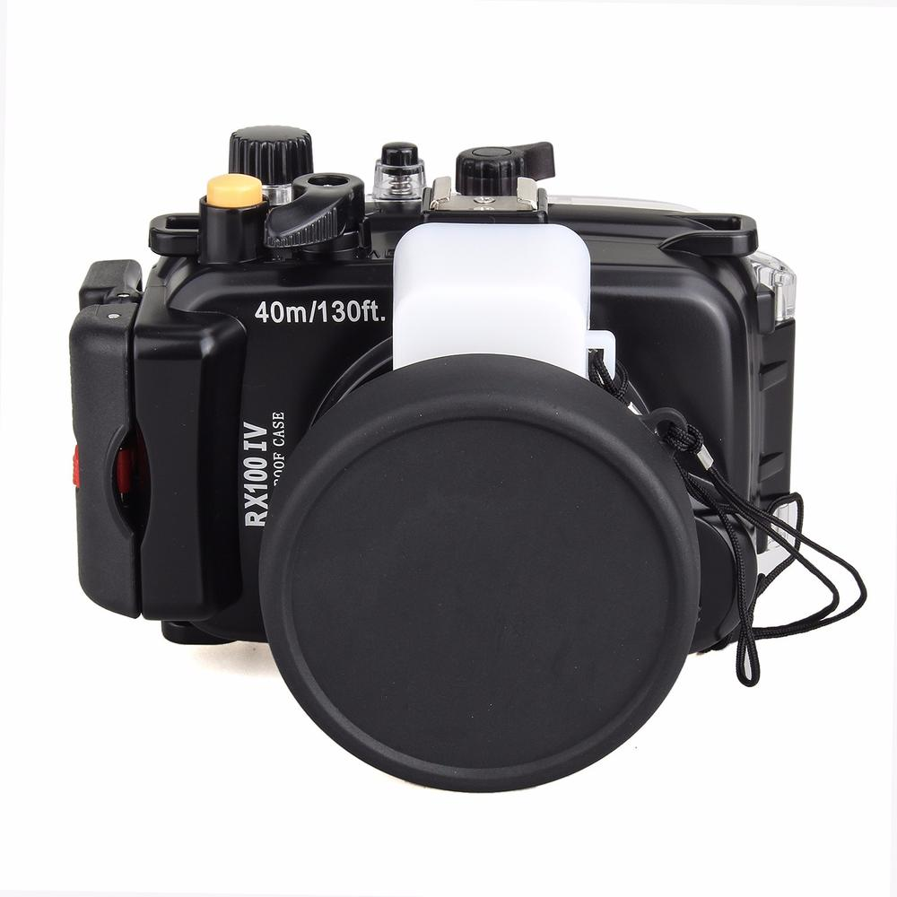 Meikon 40m /130ft Waterproof Camera Housing Hard Case for Sony RX100 IV/RX100 M4 Waterproof Bags Case for Sony RX100 IV/RX100 M4 ...