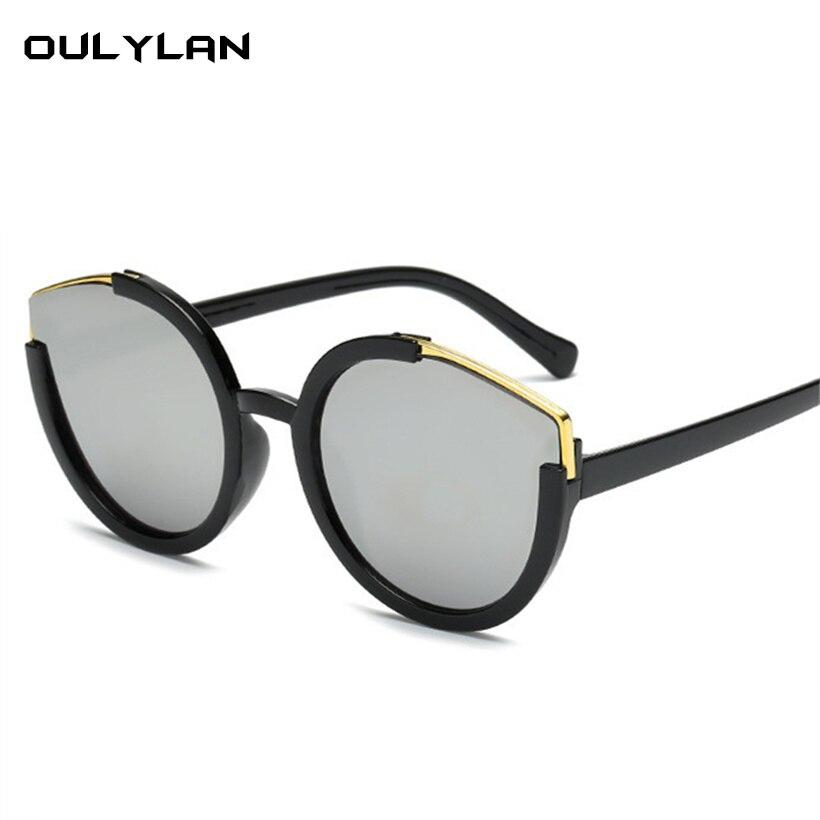 Oulylan Katze Auge Spiegel Sonnenbrille Frauen Vintage Marke Designer Übergroßen Sonnenbrille Damen Bunte Brillen Bekleidung Zubehör