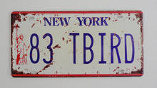 1 pc New York tin sign plate US American car license plaques man cave garage