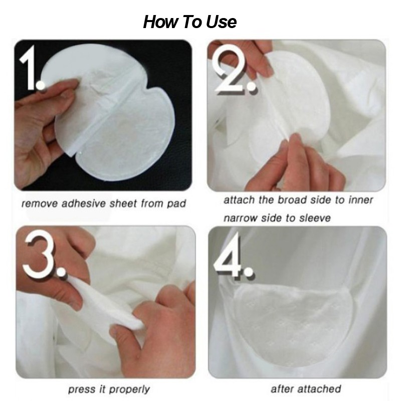 100Pcs ( 50pairs ) Armpit Sweat Pads Summer Disposable Underarm Absorbing Anti Perspiration Deodorant Unisex Shield Wholesale 18