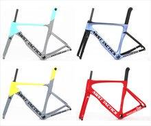 Новые Углеродные колеса 700C суперлегкая дорога велосипед карбоновая рама 100*12 142*12 мм углеродный дорожный диск велосипед карбоновая гравия велосипедная Рама