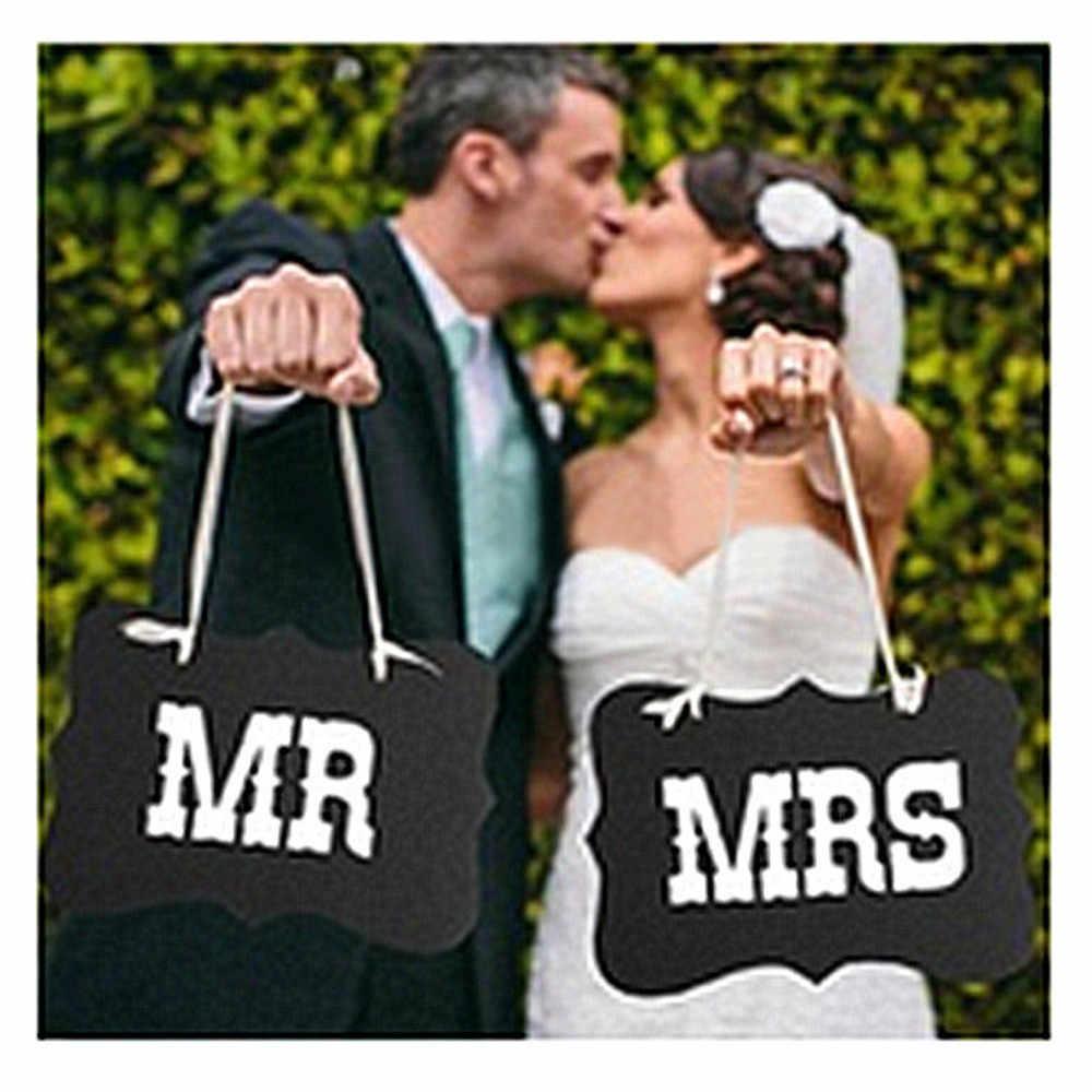 Mr & Mrs бумага баннер с гирляндами стул знак фото стенд реквизит Жених Свадебный плакат гирлянда вечерние декорация праздничные украшения