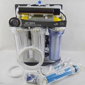 Image 3 - ホット販売 7 ステージ家庭用逆浸透システム 50GPD とスタンド、 UV と圧力計/220 V/ヨーロッパ 2 ピンプラグ