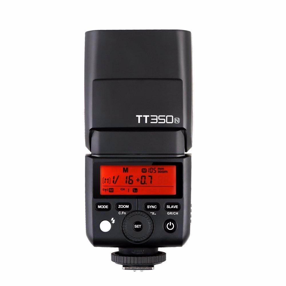 Godox TT350N 2.4G HSS 1/8000s TTL GN36 Wireless Speedlite Flash for Nikon DSLR Cameras nicefoto k8 800ws gn103 ttl hss 1 8000s 2 4g wireless battery powered flash 1 8s fast recycling for canon nikon dslr cameras