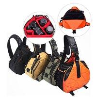 CADEN DSLR Shoulder Camera Bag Rain Cover Triangle Sling Bag Case For Camera Canon Sony Nikon