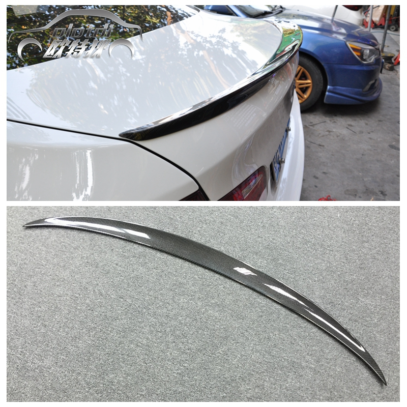 F10 Performance style carbon fiber rear spoiler car trunk lip auto boot wing spoiler for BMW F10 2010 up accessories paint abs car rear wing trunk lip spoiler for 16 17 honda civic 2016 2017 fastby ems rs style 8colors