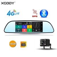 XGODY JL683 4 г dvr автомобиля gps навигации 7 сенсорный экран Android 5,1 тире камера видео регистраторы заднего вида зеркальная камера Wi Fi 16 Гб встроенн
