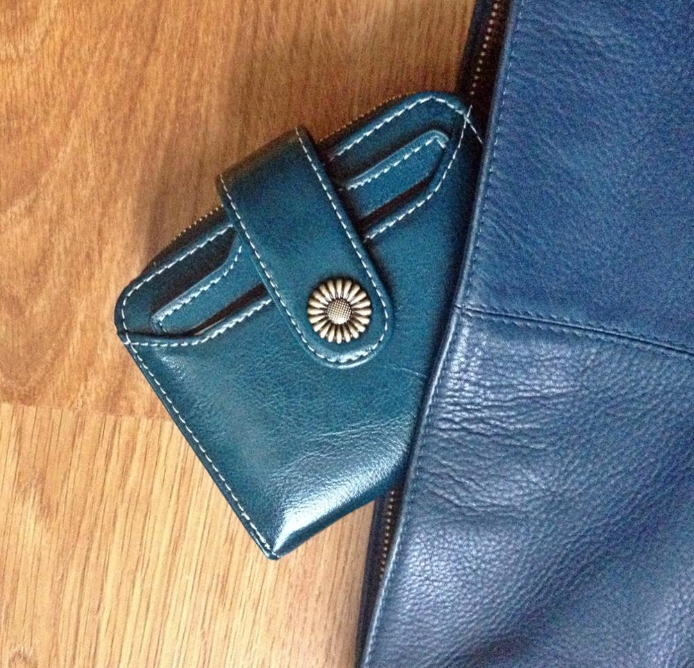 Sendefn Patent Hardware Flower Wallet Quality Short Womens Wallet Button&Zipper Small Women's Leather Wallets Special Pendant photo review