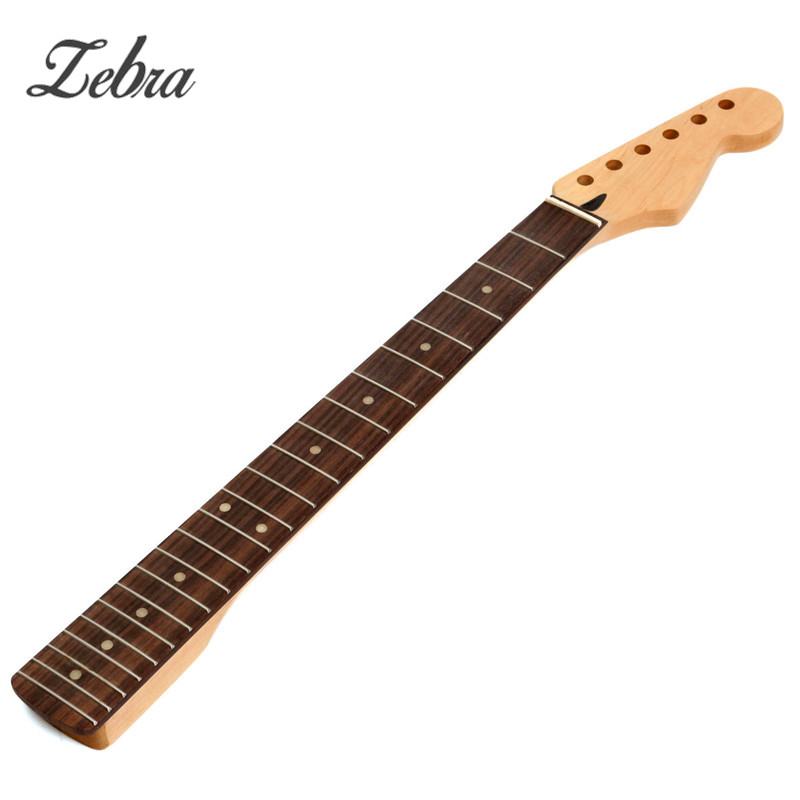 Zebra Electric Guitar Maple Neck 22 Frets Fingerboard Guitar Parts & Accessories For ST Strat Replacement Instrument maple guitar neck rosewood fingerboard 22 frets for fender st strat replacement parts