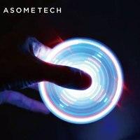 Hand Spinner Bluetooth Speaker Crystal Fingertips Gyro LED Light Toy Finger EDC Anti Stress Adult Kid