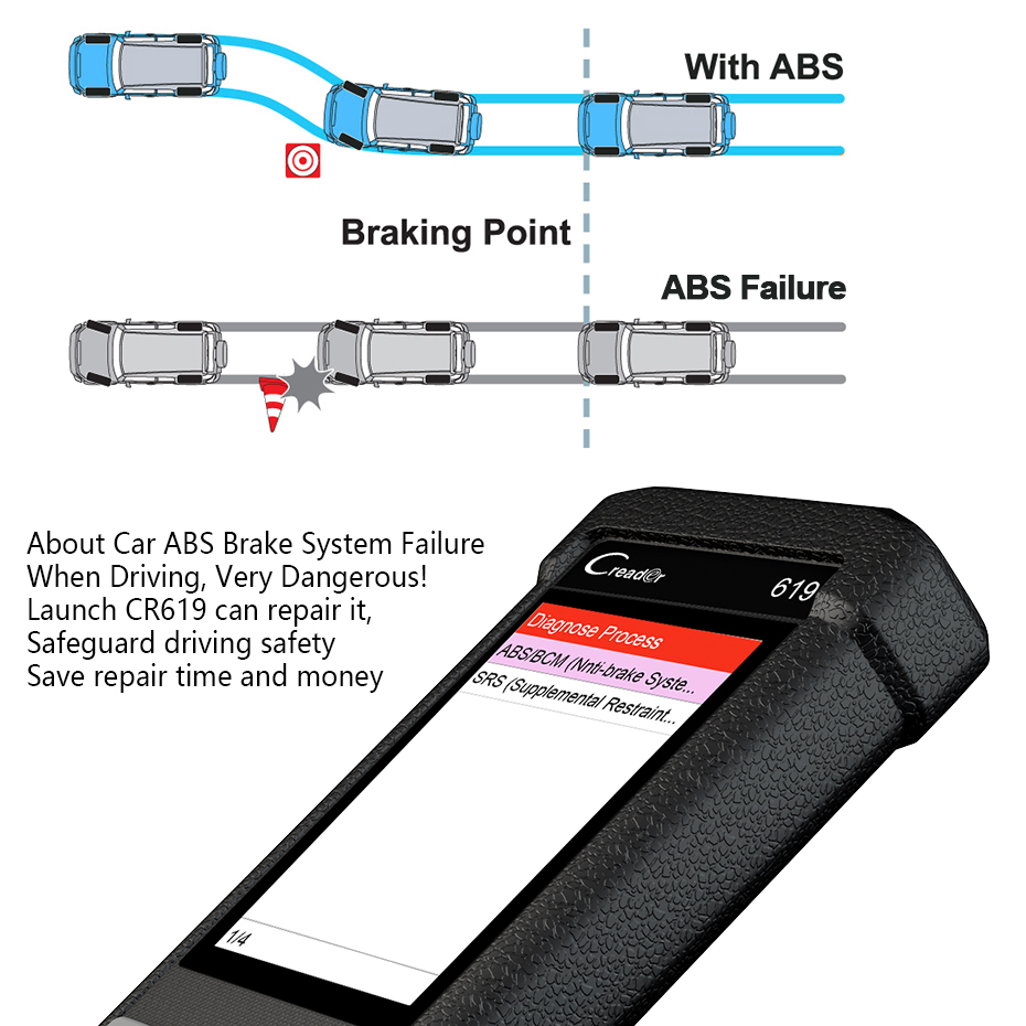 launch creader cr619 x431 odb2 obd2 scanner abs srs airbag crash this schematic is offered as a supplemental diagnostic tool for [ 930 x 930 Pixel ]