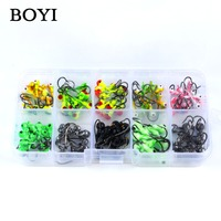 BOYI 45pcs Set High Quality Lead Jig Head FishHooks Multiple Color 1g 2g Lead Jig Fishing