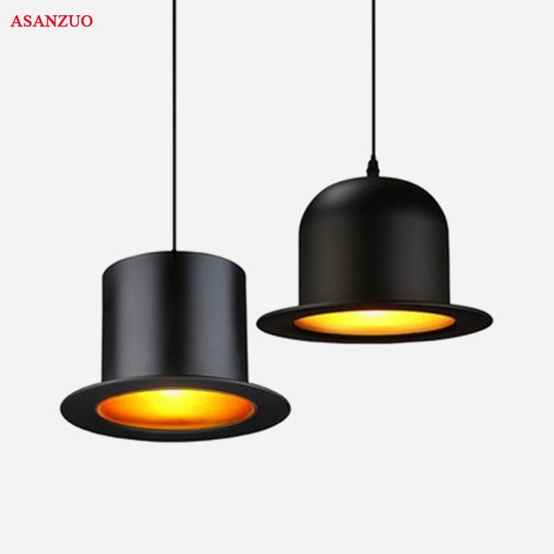 Modern Style Indoor Lighting Pendant Lights E27 Lamp Aluminum Top Hat Dome Cap LED Restaurant Shop Bar Light Fixture 110-240V