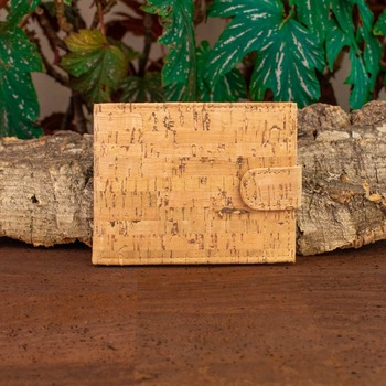 Rustic Natural Cork Wallet for Men cork vegan handmade casual wooden Eco wallet from Portugal BAG-200