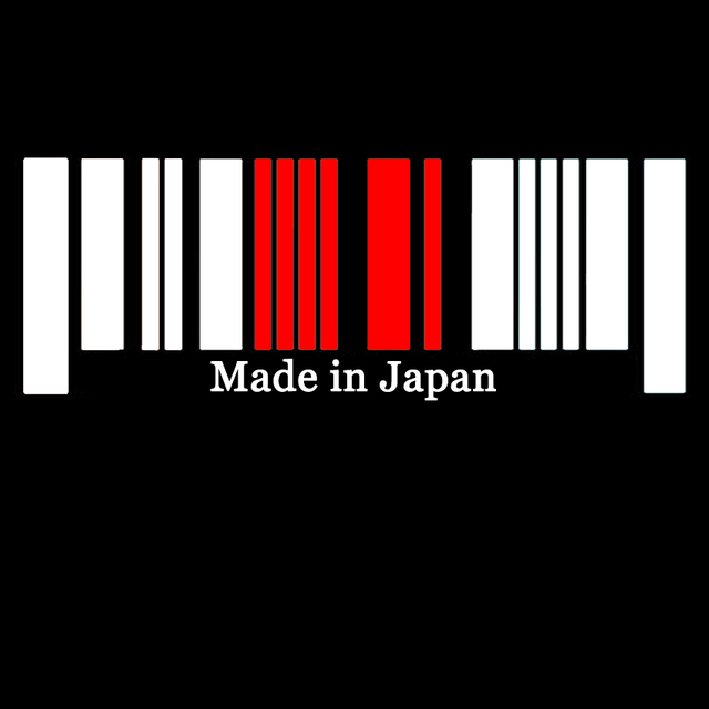New 9x25cm Made in Japan Flag Bar Code Car Stickers PVC Decal Styling For TOYOTA NISSAN HONDA SUBARU MAZDA MITSUBISI SUZUKI