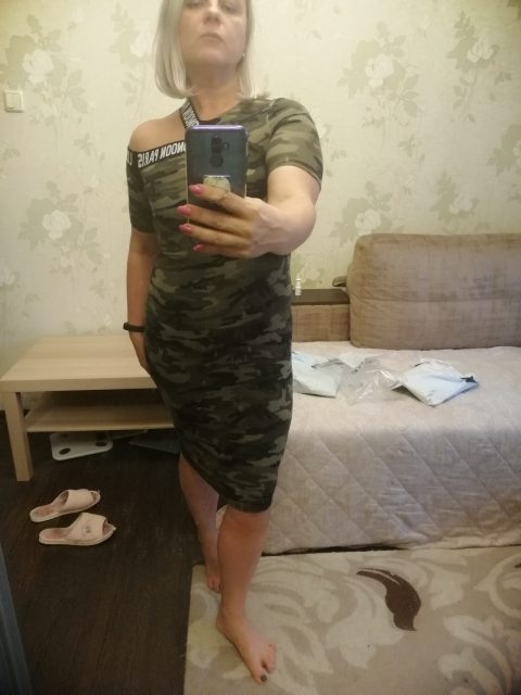 Asymmetrical Shoulder Letter Tape Camo Dress Streetwear Women Casual Skinny Clothes Bodycon Pencil Midi Dress photo review