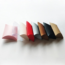 10pcs/set New Colorful Present Pouch Kraft Paper Pillow Candy Box Wedding Favors Gift Boxes Home Party Birthday Supply