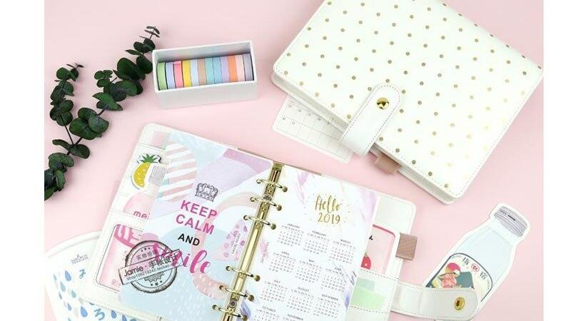 diário diário planejador núcleo interior diy caderno