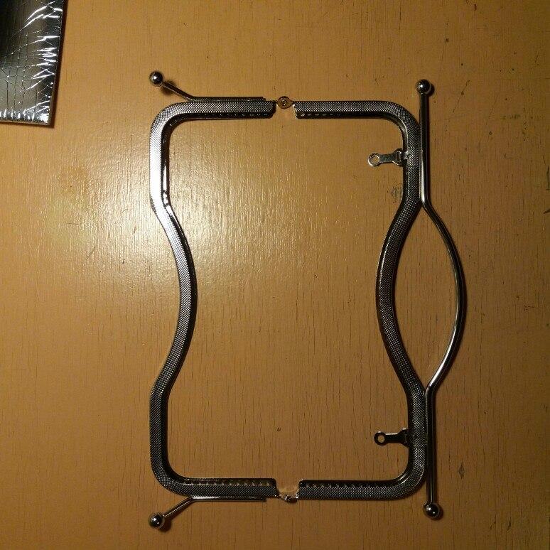 THINKTHENDO 2019 Metalen 27cm Portemonnee Tas Handvat Handtas Sluiting Lock Arch Frame Accessoires Mode Nieuwe Vrouwen Handvatten photo review