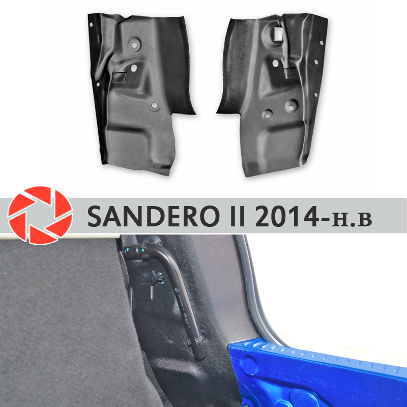 Side covers in the trunk for Renault Sandero 2014-2019 tail light plate inner trunk accessories protection car styling decor okeen car styling for honda crv 2009 2008 2007 tail trunk led rear bumper reflector light red lens lamp fog brake lights