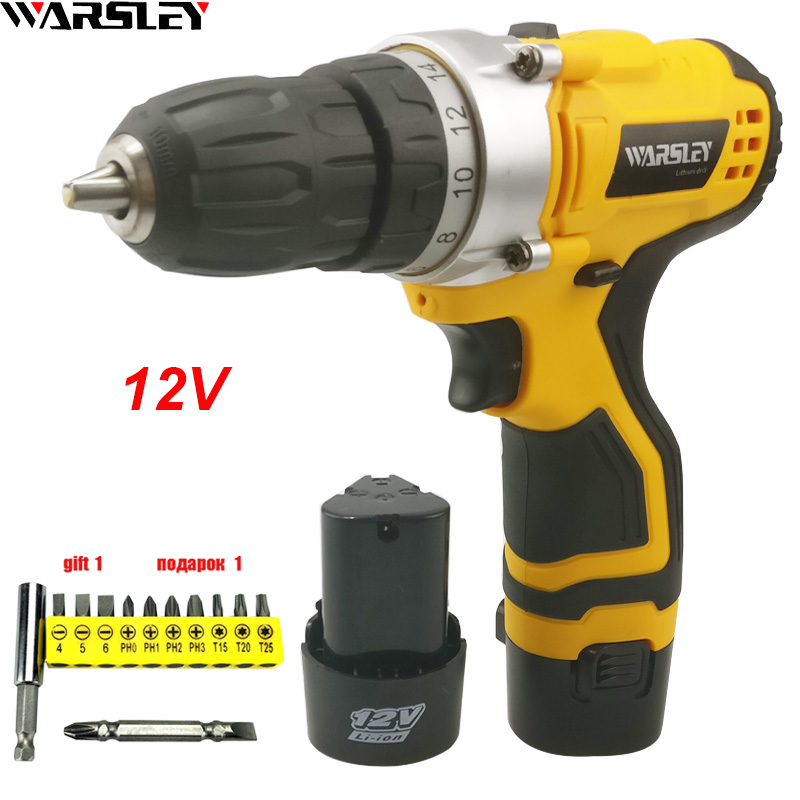 12V Screwdriver Power Tools Electric Cordless Drill Electric Drill Electric Batteries Screwdriver Mini Drill Electric Drilling free shipping brand proskit upt 32007d frequency modulated electric screwdriver 2 electric screwdriver bit 900 1300rpm tools