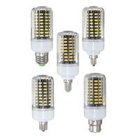 100 LED Lamp Bulb E27 E17 E14 E12 B22 5736SMD 9W LED Corn Light Bulb 85