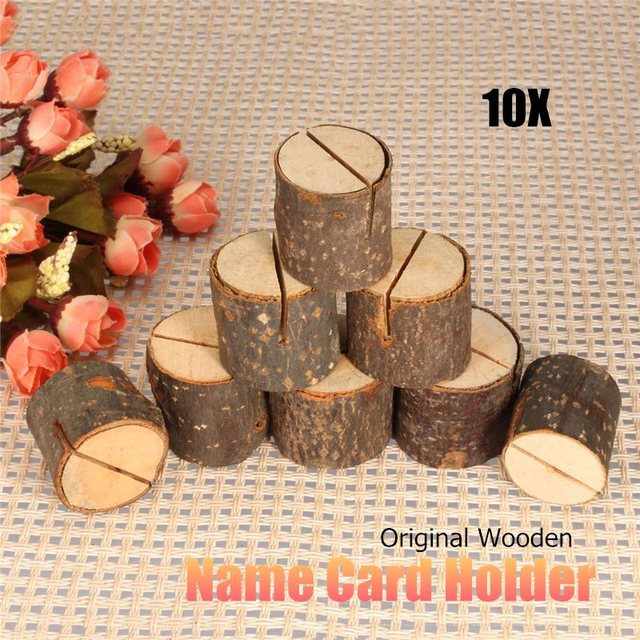 10pcs Set Rustic Wedding Table Name Place Holder Wooden Number Place