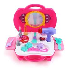 Kids simulation Dressing Table toy simulation cosmetic box for girls Child dresserstaring cosmetic box toy princess girl jewelry