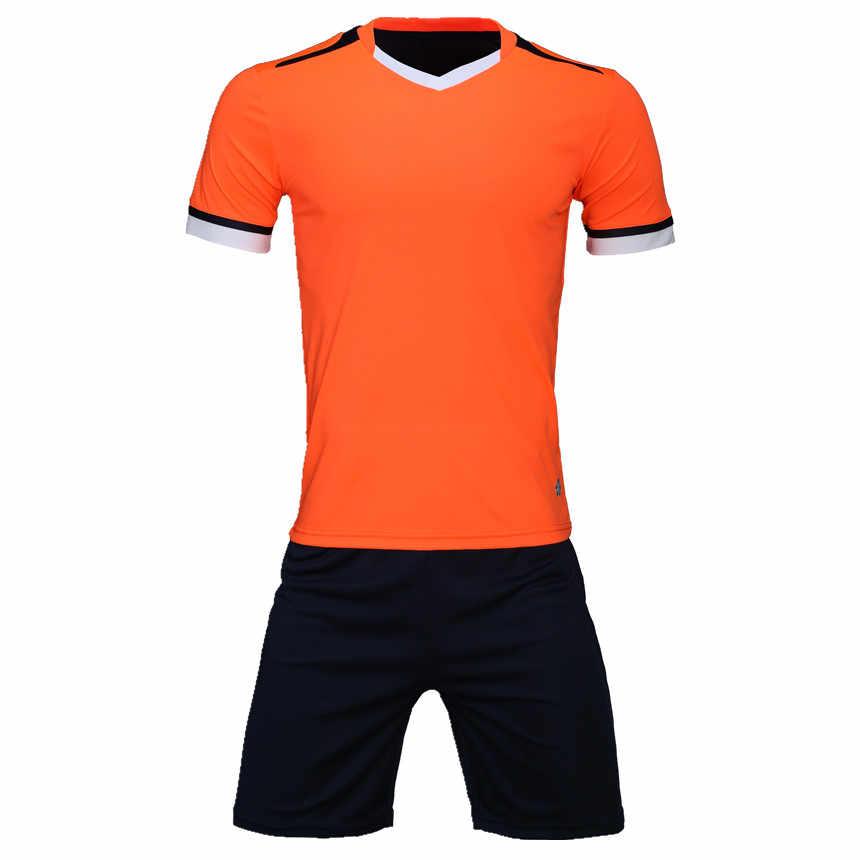 639d99690 ... Men Soccer Jerseys Set Survetement Football Volleyball Sports kit Tracksuit  Team Uniforms Suit Maillot De Foot ...