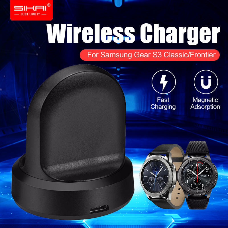 SIKAI Smart Watch Wireless Charging For Samsung Gear S2 Cradle Stand Charger Charging Base For Galaxy Gear S3 Classic Frontier